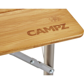 CAMPZ Bamboo Folding Table 80x60x65cm, brown